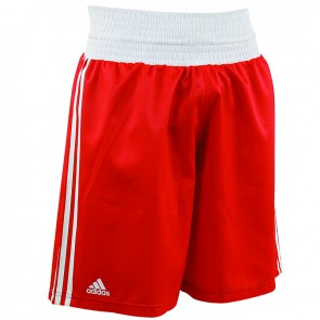 adidas Amateur Boxing Short Lightweight Rood/Wit