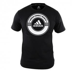 adidas T-Shirt Combat Sports Zwart/Wit 164