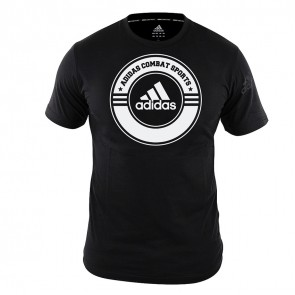 adidas T-Shirt Combat Sports Zwart/Wit Small