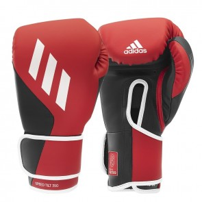 adidas (kick)Bokshandschoenen Speed TILT 350V Pro Training Rood/Zwart (Handschoenen)