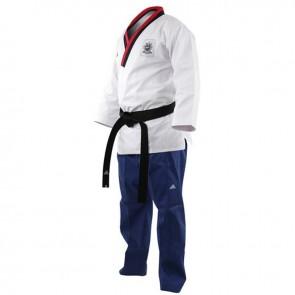 Adidas Poomsae Taekwondopak Boys Wit/Licht Blauw 150cm