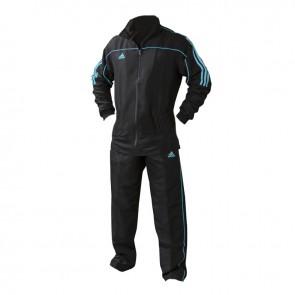 adidas Team Track Trainingsjack Zwart/Blauw maat 140