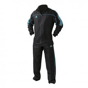 adidas Team Track Trainingsbroek Zwart/Blauw maat 128
