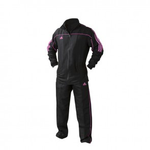 adidas Team Track Trainingsjack Zwart/Roze