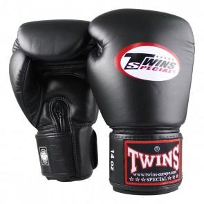 Twins (kick)bokshandschoenen BG-N Velcro Leder zwart (Handschoenen)