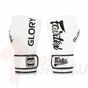 Fairtex (kick)bokshandschoenen Glory Limited Edition Wit 14oz