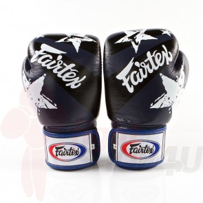 Fairtex (kick)bokshandschoenen Nation Print Blauw 14oz