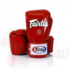 Fairtex (kick)bokshandschoenen Tight Fit Rood 16oz