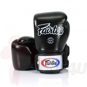 Fairtex (kick)bokshandschoenen Tight Fit Zwart 10oz