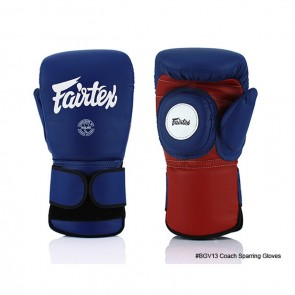 Fairtex Coach Handschoenen Sparring Blauw/Rood