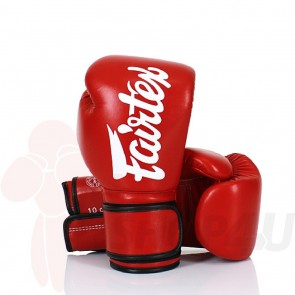 Fairtex (kick)bokshandschoenen Improved Fit Rood 16oz