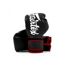 Fairtex (kick)bokshandschoenen Microfiber Zwart (Handschoenen)