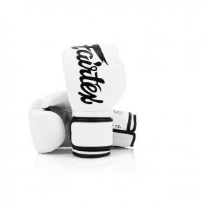 Fairtex (kick)bokshandschoenen Microfiber Wit (Handschoenen)