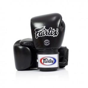Fairtex (kick)bokshandschoenen Tight Fit Zwart (Handschoenen)