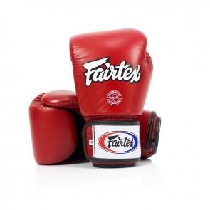 Fairtex (kick)bokshandschoenen Tight Fit Rood (Handschoenen)
