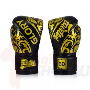 Fairtex (kick)bokshandschoenen Glory Limited Edition Zwart 2.0
