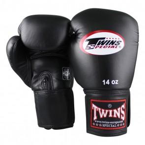 Twins (kick)bokshandschoen Korte Velcro Zwart Leder