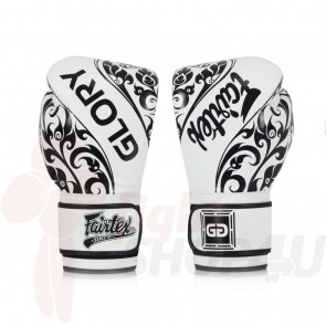 Fairtex (kick)bokshandschoenen Glory Limited Edition Wit BGV2 14oz