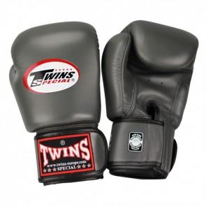 Twins (kick)bokshandschoenen Velcro Grijs 16 oz