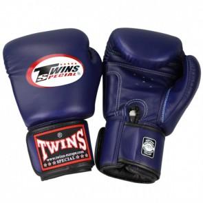 Twins (kick)bokshandschoenen Velcro Blauw 14 oz