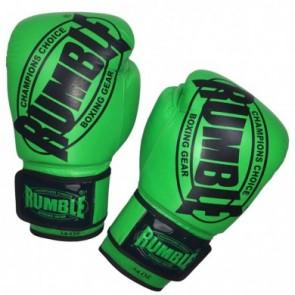 Rumble (kick)bokshandschoen Winner Leder Groen