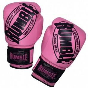 Rumble (kick)bokshandschoen Winner Leder Roze