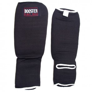 Booster elastische scheenbeschermers zwart Large