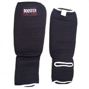 Booster elastische scheenbeschermers zwart Medium