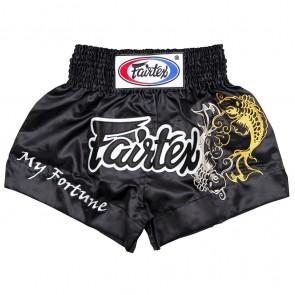 Fairtex Kickboksbroek Fortune Zwart Medium (Kleding)