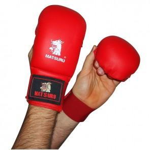 Matsuru Karate Handschoenen Wedstrijdmodel Zonder Duim Rood