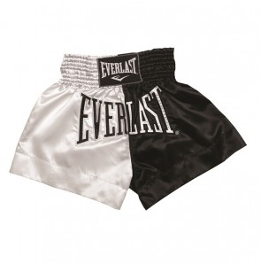Everlast (kick)boksshort Satijn Zwart/Wit