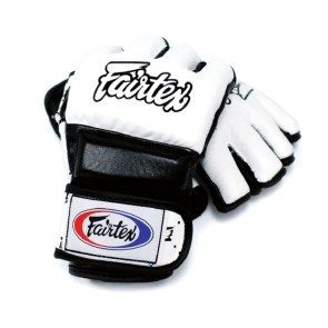 Fairtex MMA Handschoenen Wit/Zwart Medium (Handschoenen)