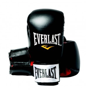 Everlast Fighter lederen (kick)bokshandschoenen zwart