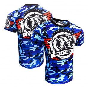 Joya Junior T-Shirt Camo Blauw