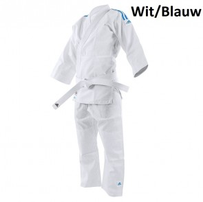 adidas Karatepak K200 Kids Wit/Blauw 110-120cm