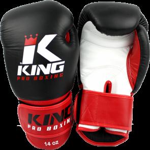 King (kick)bokshandschoenen Pro Boxing Zwart/Rood