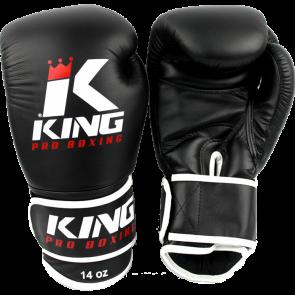 King (kick)bokshandschoenen Pro Boxing Zwart/Wit