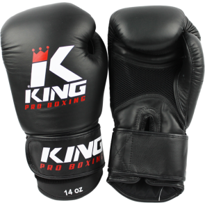 King (kick)bokshandschoenen Pro Boxing Air Zwart