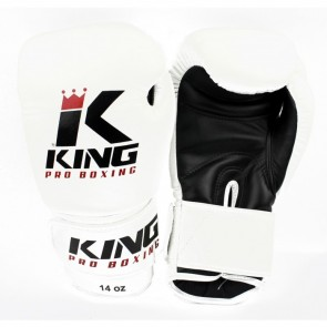 King (kick)bokshandschoenen Pro Boxing Wit/Zwart
