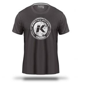 King T-Shirt Logo Grijs (Kleding)