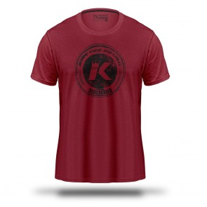 King T-Shirt Logo Rood (Kleding)