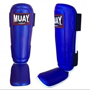 Muay Scheenbeschermers Shin & Instep Blauw