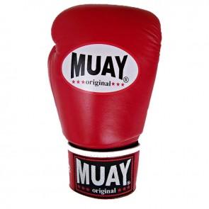 Muay (kick)bokshandschoenen Original Rood/Wit
