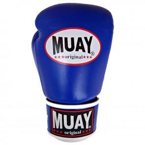 Muay (kick)bokshandschoenen Original Blauw/Wit