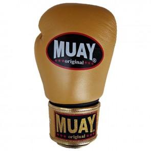 Muay (kick)bokshandschoenen Original Goud/Zwart