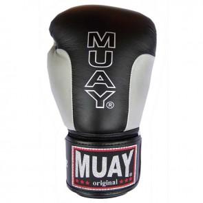 Muay (kick)bokshandschoenen Premium Zwart/Zilver