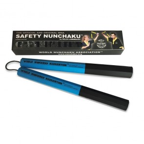Safety Nunchaku Traditional (Octagonaal) Blauw Junior (Overigeboksartikelen)
