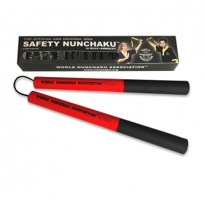Safety Nunchaku Traditional Rood Junior