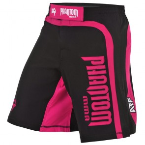 Phantom MMA Short Shadow Zwart/Roze xx-Small (26)