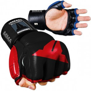 Throwdown MMA Hybrid Handschoenen Zwart/Rood Extra Large